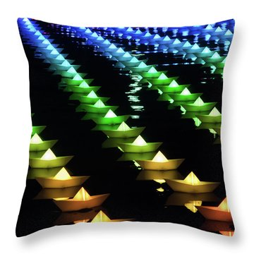 Throw Pillow featuring the photograph The Colors Of The Voyage by Mark Dodd