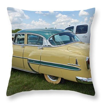 Vintage Car Throw Pillow by Ellen Tully