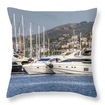 Yalikavak Marina Bodrum Turkey Throw Pillow
