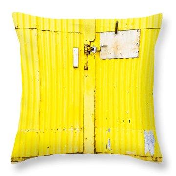 Yellow Metal  Throw Pillow
