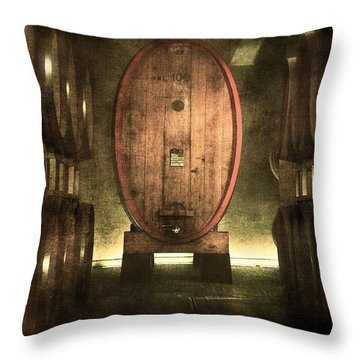 100 Hl - Italian Red Wine Throw Pillow