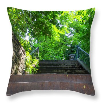 100 Steps In August Throw Pillow