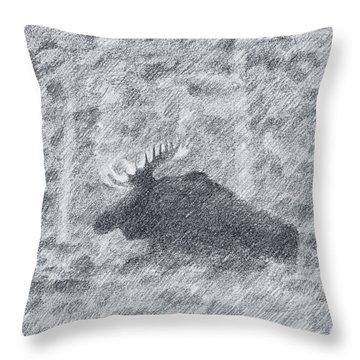 1000 Pounds Of Bull Throw Pillow