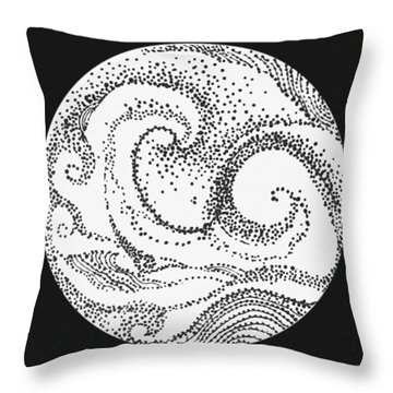 Throw Pillow featuring the painting #1002 Sea And Shore by Kym Nicolas