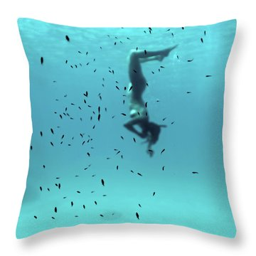 Swim Throw Pillows