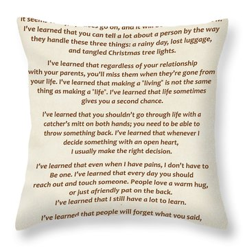 101-  Maya Angelou Throw Pillow by Joseph Keane