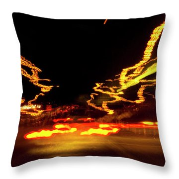 101 Southbound At Night Throw Pillow