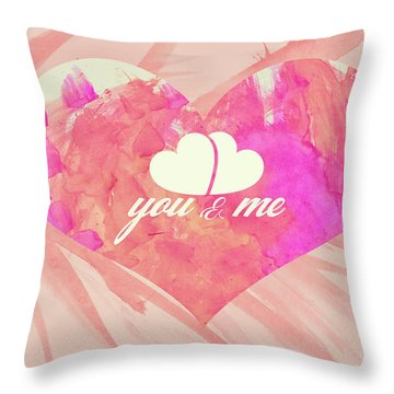 10183 You And Me Throw Pillow