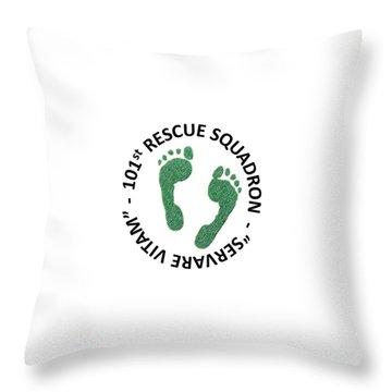 101st Rescue Squadron Throw Pillow
