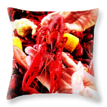 102715 Louisiana Lobster Throw Pillow by Garland Oldham
