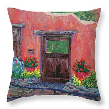 104 Canyon Rd, Santa Fe Throw Pillow