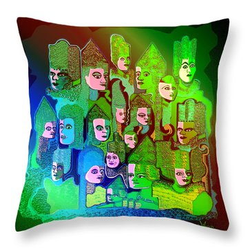 104 -  Gallery Of Ancestors   Throw Pillow by Irmgard Schoendorf Welch