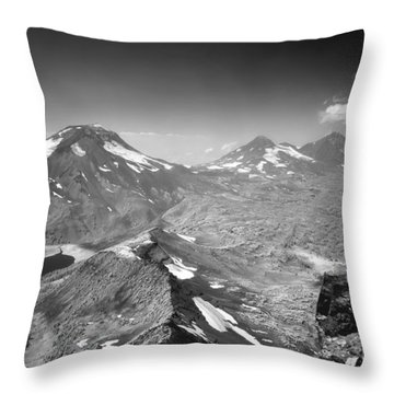 Throw Pillow featuring the photograph 105723 Sisters From Broken Top Or by Ed Cooper Photography