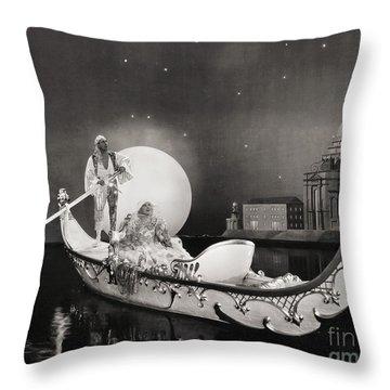 Silent Still: Man & Woman Throw Pillow by Granger