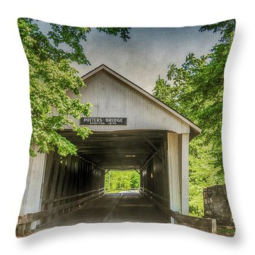 10700 Potter's Bridge Throw Pillow