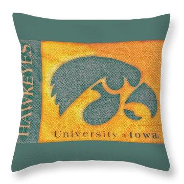 10720  Iowa Hawkeye Throw Pillow