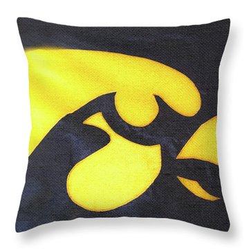 10724  Iowa Hawkeye Throw Pillow