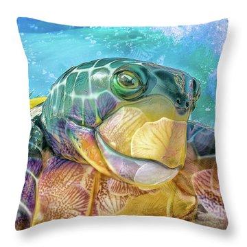10730 Mr Tortoise Throw Pillow