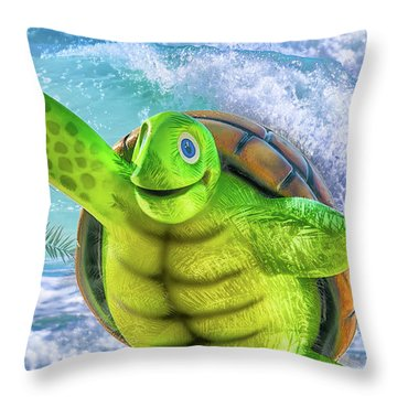 10731 Myrtle The Turtle Throw Pillow