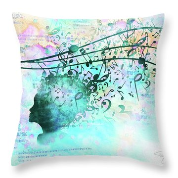 10846 Melodic Dreams Throw Pillow