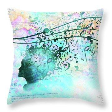 10846 Melodic Dreams Throw Pillow