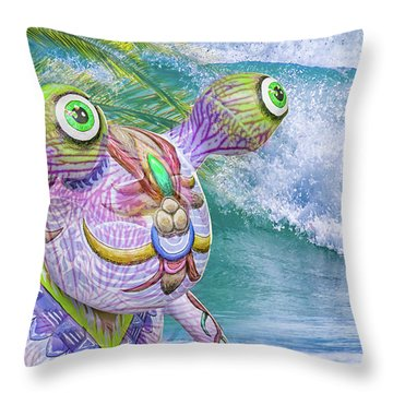 10859 Aliens In Paradise Throw Pillow