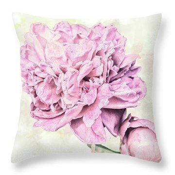 10861 Spring Peony Throw Pillow
