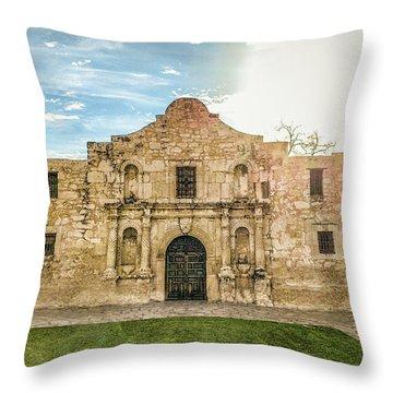 10862 The Alamo Throw Pillow by Pamela Williams