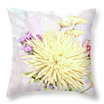 10865 Spring Bouquet Throw Pillow