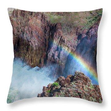 10883 Rainbow Over Owyhee Throw Pillow