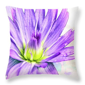 10889 Purple Lily Throw Pillow by Pamela Williams