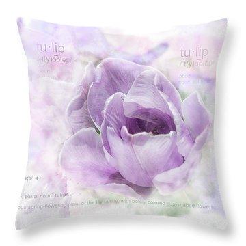 10947 Tulip Throw Pillow