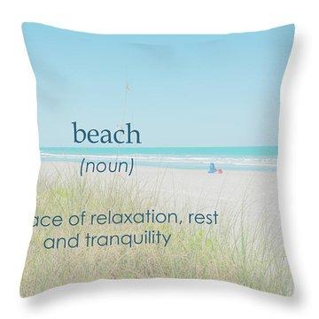 10967 Beach Tranquility Throw Pillow