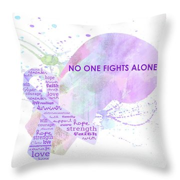 10969 No One Fights Alone Throw Pillow