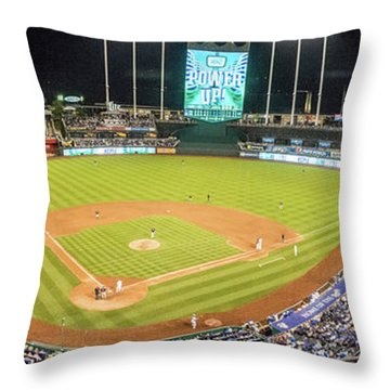 10989 Kauffman Stadium Throw Pillow
