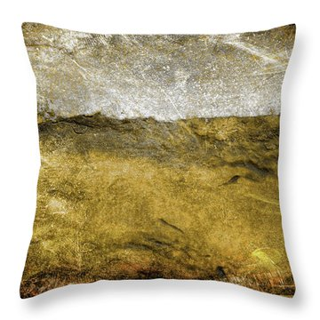 10b Abstract Expressionism Digital Painting Throw Pillow