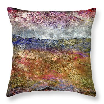 10c Abstract Expressionism Digital Painting Throw Pillow
