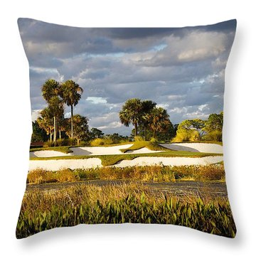 18th Hole Throw Pillow