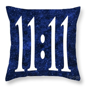 11 11 Throw Pillow by Ginny Gaura