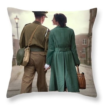 1940s Couple Throw Pillow
