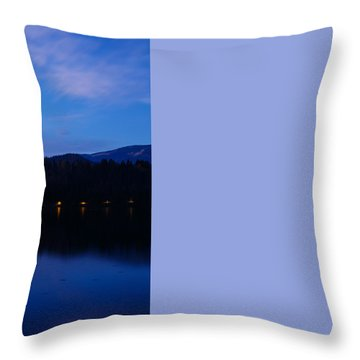 Throw Pillow featuring the photograph Dusk Over Lake Bled by Ian Middleton
