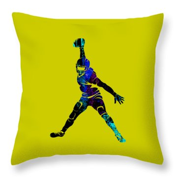 Football Collection Throw Pillow by Marvin Blaine
