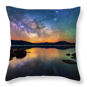 11 Mile Nights Throw Pillow