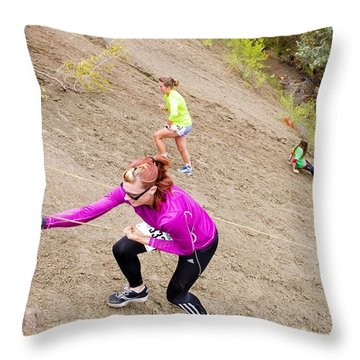 Pikes Peak Road Runners Fall Series Race Throw Pillow