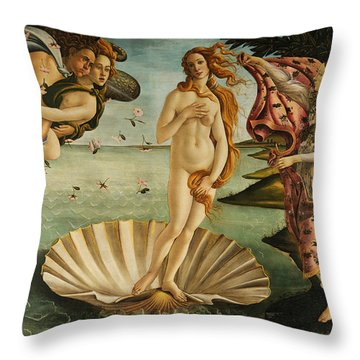 The Birth Of Venus Throw Pillow