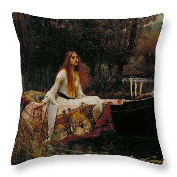 The Lady Of Shalott Throw Pillow