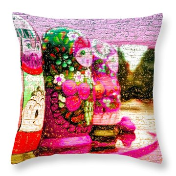 Russian Matrushka Dolls Wall Art Throw Pillow