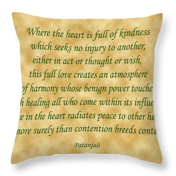 11- Where The Heart Is Full Throw Pillow by Joseph Keane