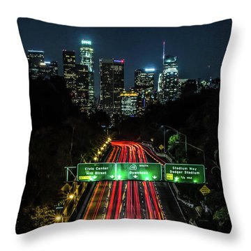 110 Freeway Throw Pillow