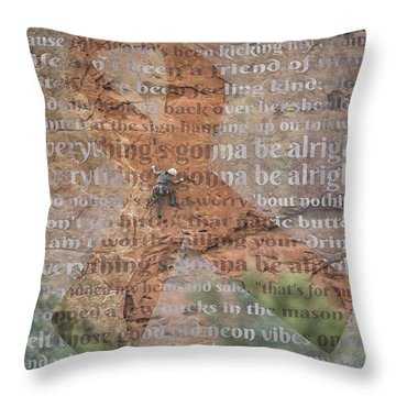 11059 Everything Will Be Alright Throw Pillow